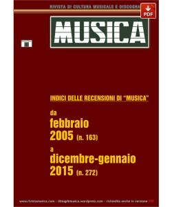 INDICI DELLE RECENSIONI DI MUSICA 2005-2015 (PDF)